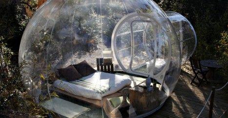 In deze bubbeltent kun je kamperen als Sandy uit Spongebob