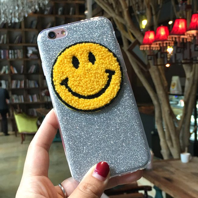 New i6 i6s Luxury Case For iPhone 6 6s 6plus 6s plus Emoji Yellow Smile Face Silver Glitter soft gel cover // iPhone Covers Online //   Price: $ 11.50 & FREE Shipping  //   http://iphonecoversonline.com //   Whatsapp +918826444100    #iphonecoversonline #iphone6 #iphone5 #iphone4 #iphonecases #apple #iphonecase #iphonecovers #gadget #gadgets