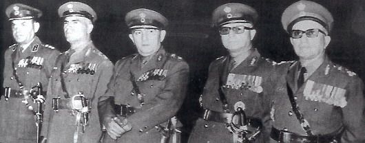 Members of the greek military junta of 1967–1974. This Day in History: Aug 14, 1974:The second Turkish invasion of Cyprus begins