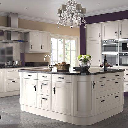 Mayfair Mussel Matt Finish Replacement Kitchen Cabinet Doors   Topdoors  #MattFinishDoors