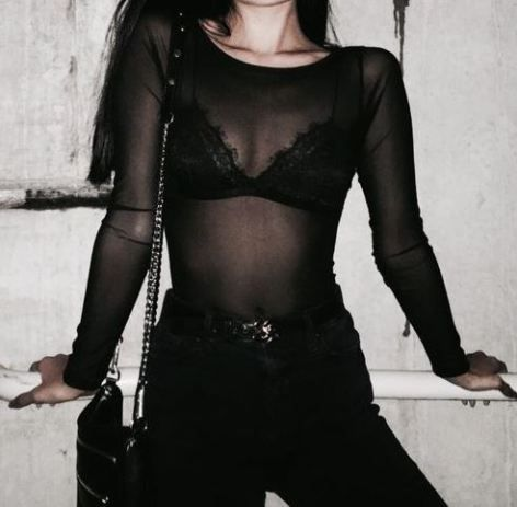 Sheer tops and bodysuits are the perfect pieces for edgy outfits!