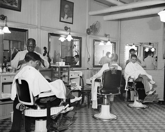 A Busy Barber Shop Located At The U S Capitol Washington D C