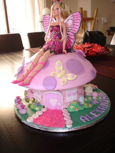 Barbie Fairy Toadstool Cake