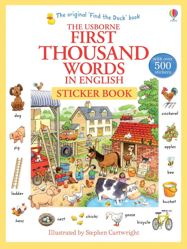 """Find out more about """"First thousand words in English sticker book"""", write a review or buy online."""
