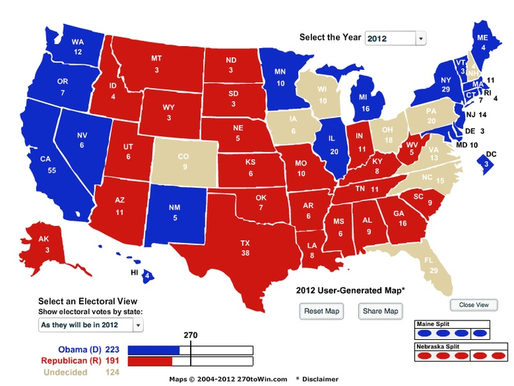 The Best Interactive Electoral Map Ideas On Pinterest - Us electoral interactive map