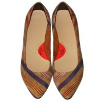 leather flats, flats, leather shoes, kalishoes.ro, colorful, spring shoes, summer shoes, stripes, stripes shoes