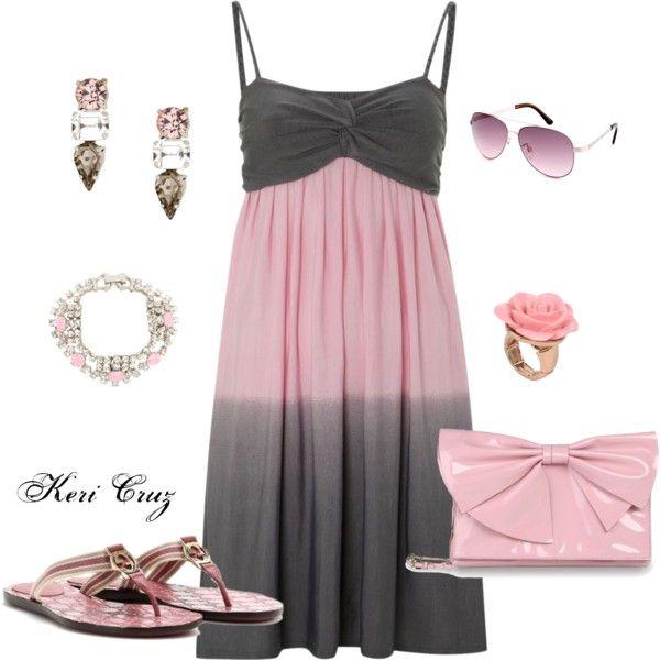 Flirty Sundress by keri-cruz on Polyvore