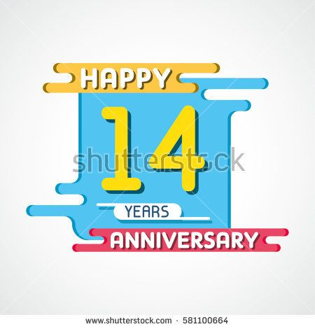 14th Years Anniversary Celebration Design.