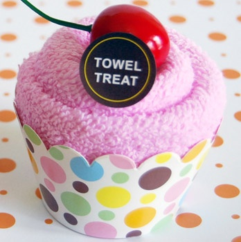 cupcake towels for party favors