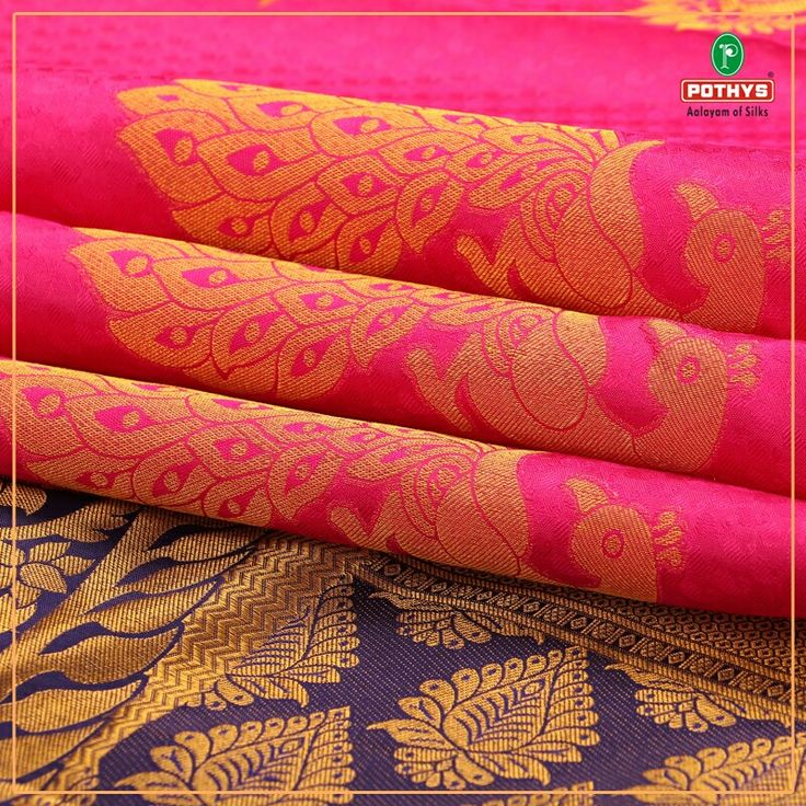 For brides who want to stun everyone with her attire. Shop for this pink pure silk saree from our Vasundhra Pattu collections. #VasundhraPattu #Gorgeous #Motifs #BridalSaree