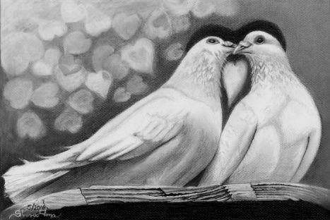 Láska holubí - A4, tužky