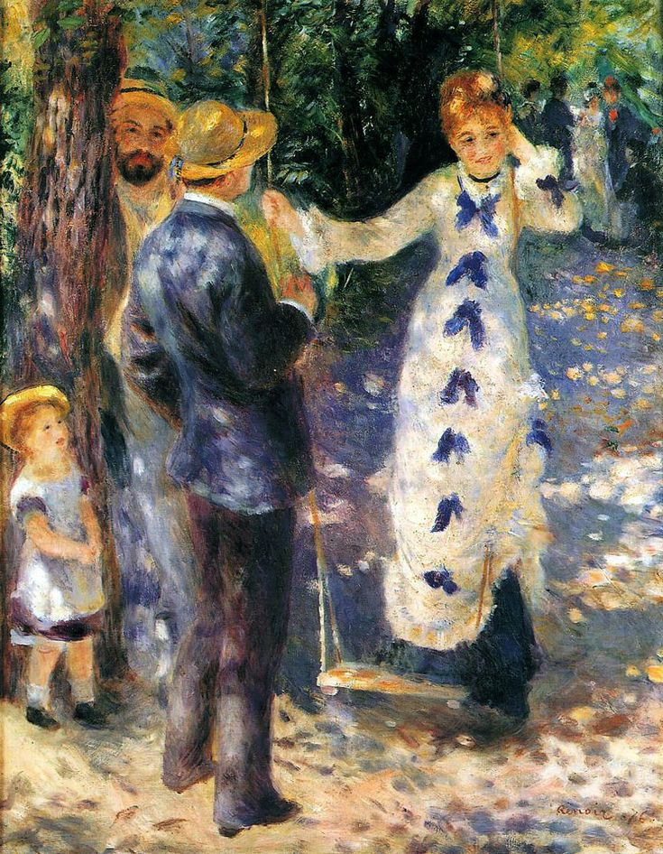 Auguste Renoir - La Balançoire, Musée D'Orsay.  I love the play of light in the picture.