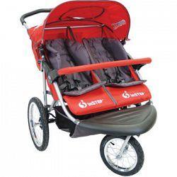 La+poussette+de+jogging+double+Safari+TT+(Turn+Technology)+de+InStep®+est+conçue+pour+les+parents+en+constant+déplacement.+En+verrouillant+en+place+la+roue+avant+qui+pivote+sur+360°,+cette+luxueuse...