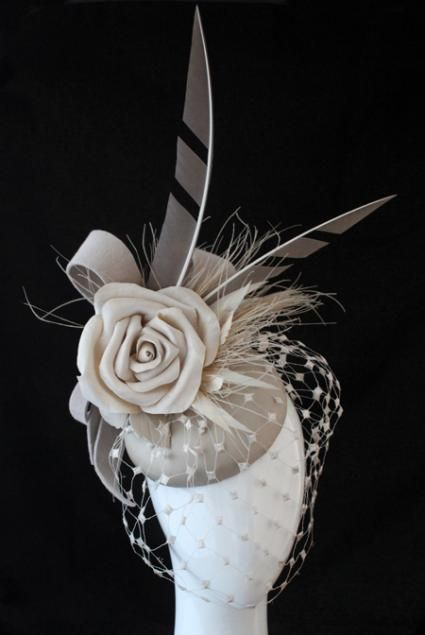Vanilla Luxe | Reny Kestel Millinery i would wear this-love the feather notching
