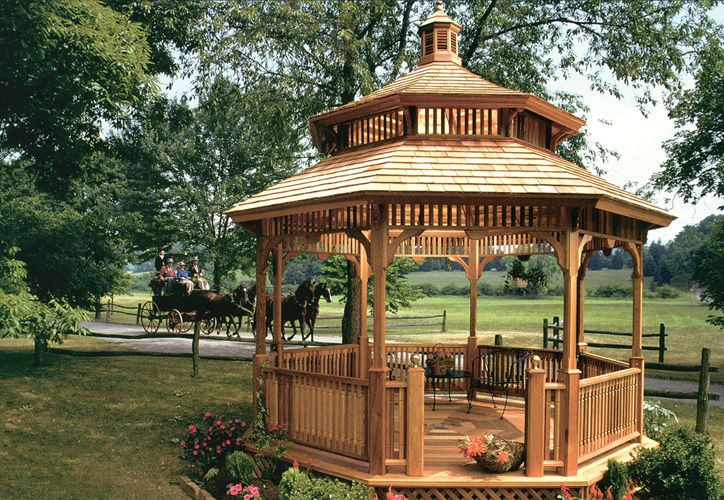 25 best images about gazebos on pinterest lakes decks for Rustic gazebo kits
