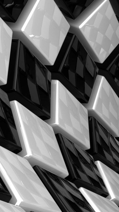 3D Cubes White and Black iPhone Background for 6s #BlackiPhoneBackground #iPhone6Background #iPhone6sWallpaper #BlackiPhoneWallpaper #iPhoneWallpaper