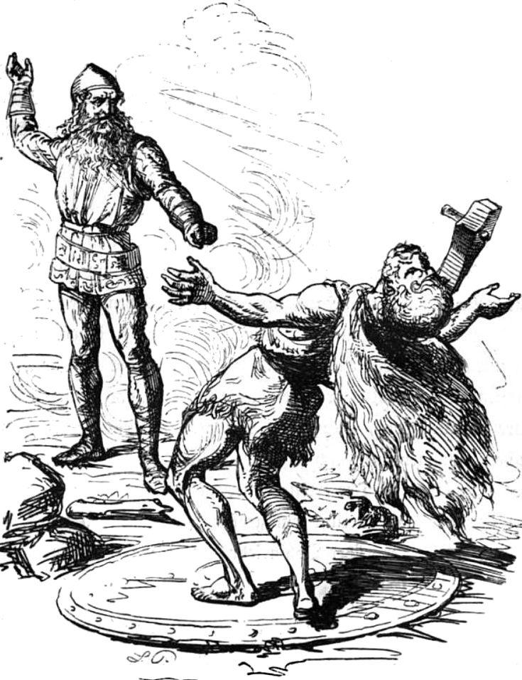 Thor's Battle With Hrungnir