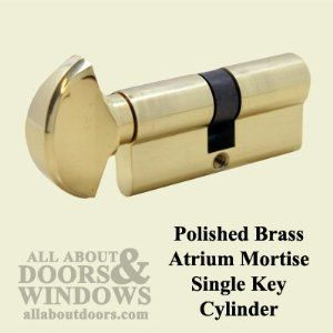 Atrium Door Lock Keyed Cylinder With Thumb Turn By Atrium