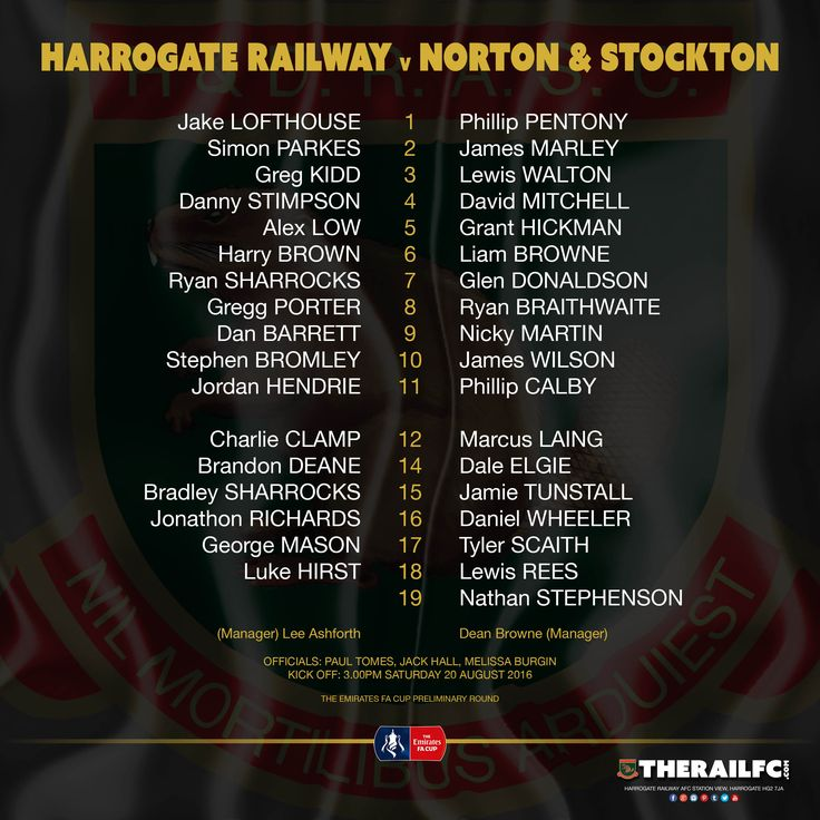The two teams for today's Emirates FA Cup tie at Station View    @therailfc @NASAFCOFFICIAL