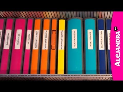 [VIDEO]: Best Binders & Dividers to Use for Home Office or School Papers from http://www.alejandra.tv