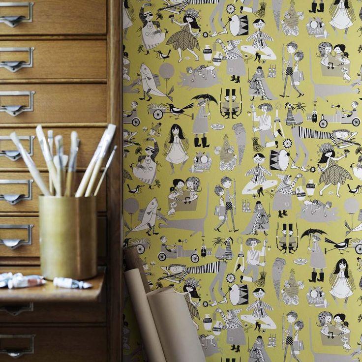 wallpaper Våra Visor, design Ylva Källström-Eklund