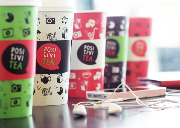 PositiviTea by Maija Sardiko, via Behance