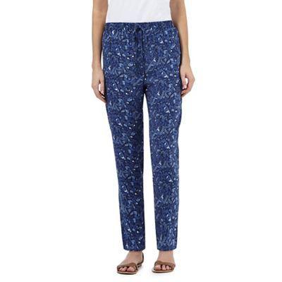 Mantaray Blue bird print trousers | Debenhams