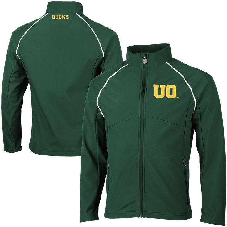 Oregon Ducks Big & Tall Soft Shell Full Zip Jacket - Green