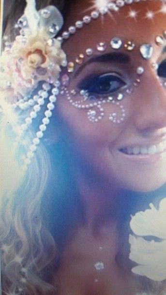 jewels rave makeup face make-up rave rave clothes rave crown raver
