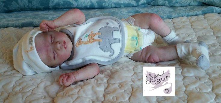 Realborn Reborn Baby Doll Preemie Sleeping Ashley.  Painted hair.   | eBay