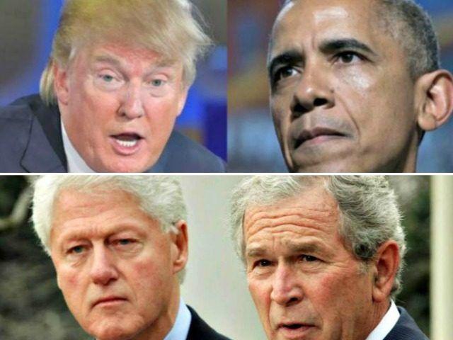 Trump, Obama, Clinton, Bush