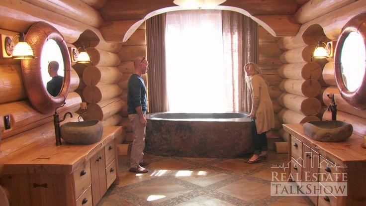 RealEstateTalkShow visits Hirsh Log Homes - YouTube