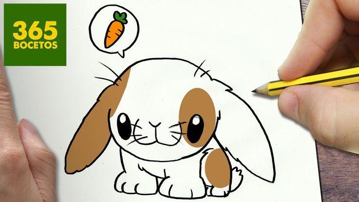 COMO DIBUJAR CONEJITO KAWAII PASO A PASO - Dibujos kawaii faciles - How ...