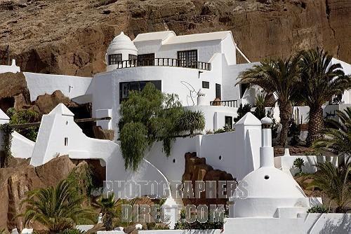 The César Manrique designed house called Lagomar , Nazaret , Lanzarote , Canary Islands , Spain , Europe stock photo