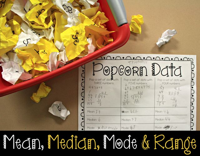 Mean, Median, Mode, and Range Activity Idea! Includes a FREE download!