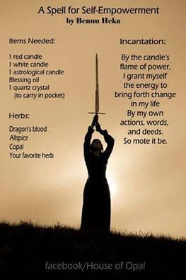 spell for empowerment - Pinned by The Mystic's Emporium on Etsy