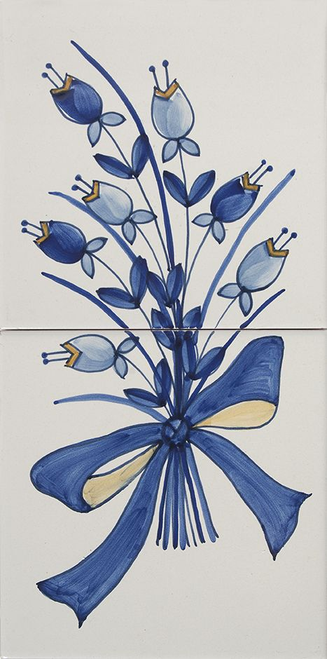 40x20 Pannello Tulipani Blu
