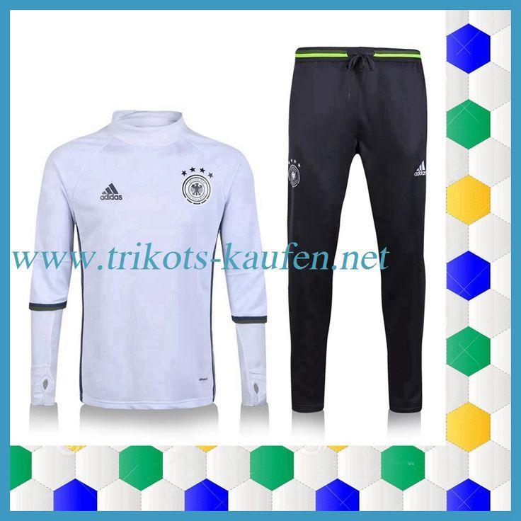 Die Neuen Deutschland Trainingsanzug Weiß Schwarz 2016 2017 Original