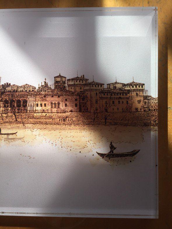 un'opera di G.S.Bertoni, stampa su plexiglass