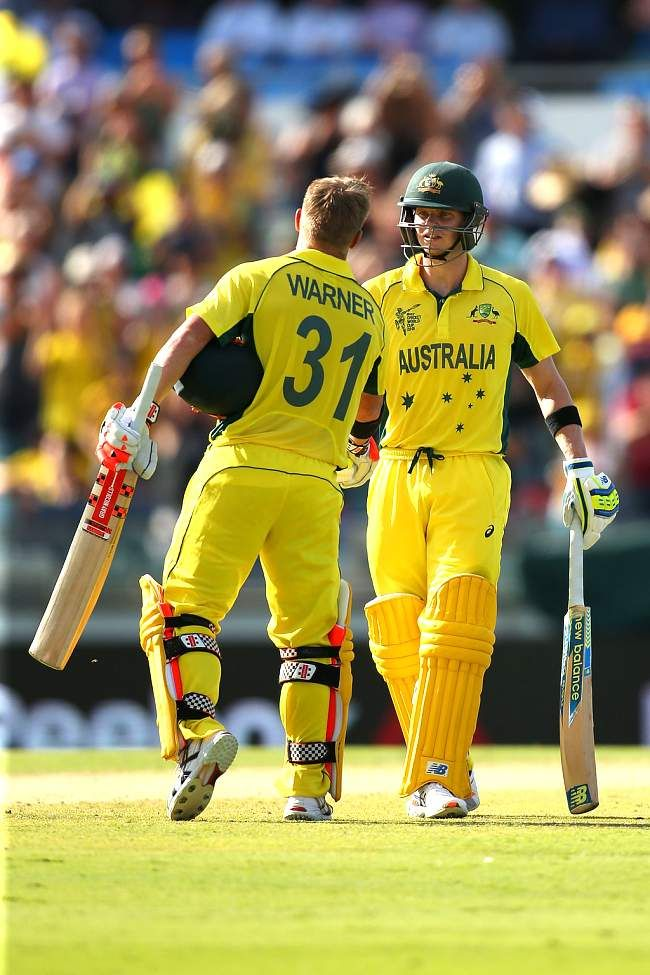 Australia vs Afghanistan, 26th Match, Pool A steven Smith and David Warner were involved in a record partnership.