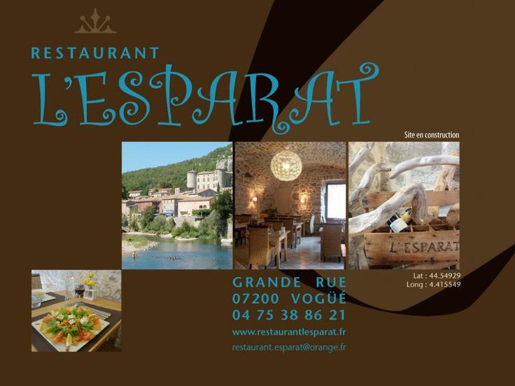 Restaurant lu0027Esparat Vacances Ardèche 2015 Pinterest Restaurant - chambre d hote antraigues sur volane