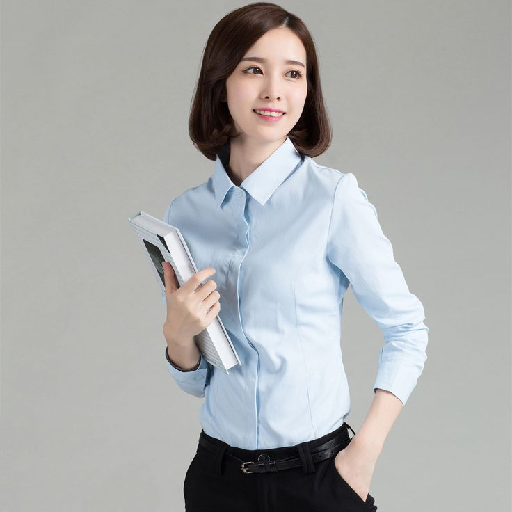 2016 Summer New Women Long Sleeve Pure Color Striped Blouses Turn Down Collar Casual Plus Size Woman Office OL Shirts Blusas