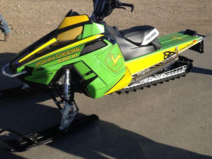My Husband's Polaris / John Deere snowmobile for Winter 2012