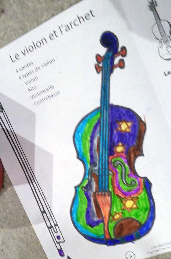 Le violon et l'archet, la fiche est ici http://www.letoutpetitconservatoire.com/violon%20archet.html
