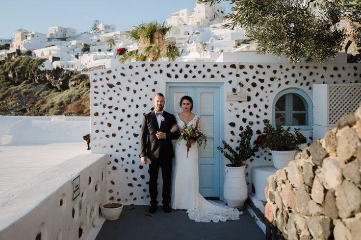 Destination wedding in Santorini island, Greece