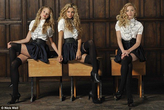 just watched this movie, St. Trinian's 2, sooo good. Tamsin Egerton (middle) is my favorite. Love her hair