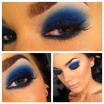 blue makeup for brown eyes, looks fine on blue, but my little brownies our there, hop on the blue eyeshadow band wagon