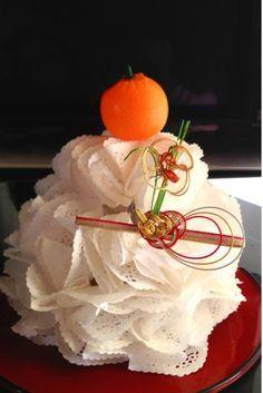 レースペーパーのお鏡餅♪の作り方 その他 アート・雑貨   アトリエ 手芸レシピ16,000件!みんなで作る手芸やハンドメイド作品、雑貨の作り方ポータル 正月