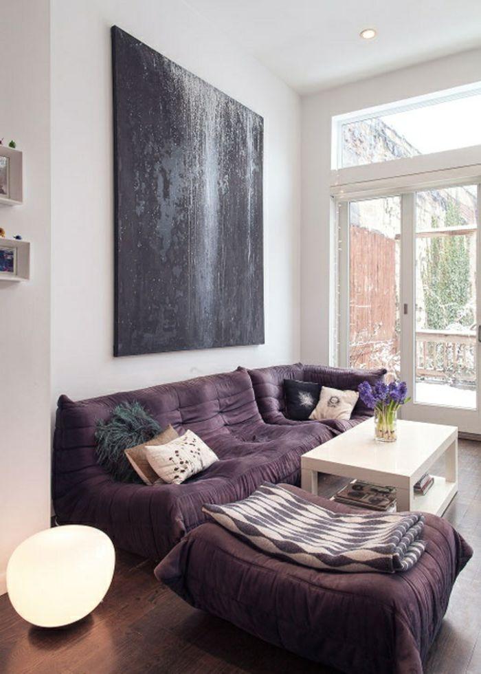 les beaux d cors avec le canap togo l gendaire ottomans. Black Bedroom Furniture Sets. Home Design Ideas
