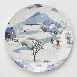 MOZI winters meadow melamine plate